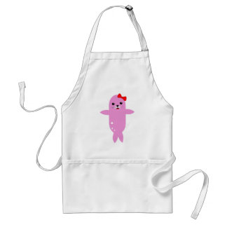 Sweet pink seal adult apron