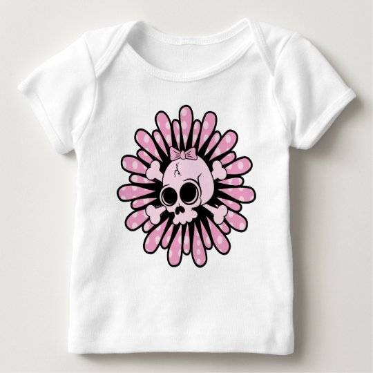 Sweet Pink Skull Baby T-Shirt