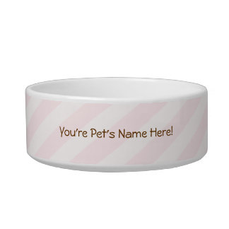 Sweet Pink Stripes Bowl