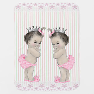 Sweet Pink Twin Girl Baby Receiving Blanket