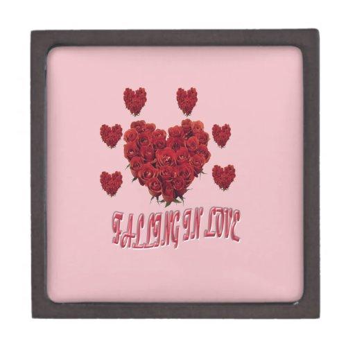 Sweet pink Valentine's Day of love Premium Trinket Boxes