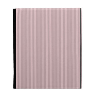 Sweet Pink Vertical Stripes Pattern iPad Folio Cases