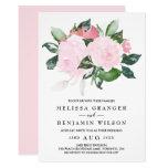 Sweet Pink Watercolor Roses Wedding Invitation