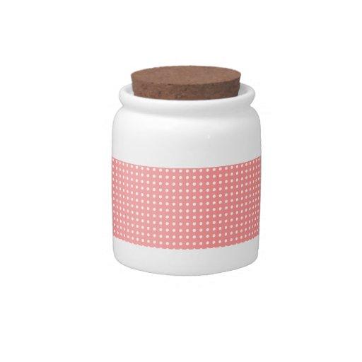 Sweet Pink/White Polka Dots Candy Dish