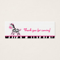 Sweet Pink Zebra Party Favor Gift Tags