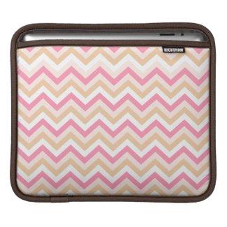 Sweet Pink Zig Zag Pattern iPad Sleeve rickshaw_sleeve