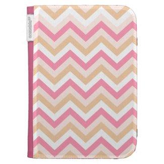 Sweet Pink Zigzag Kindle Folio Cases