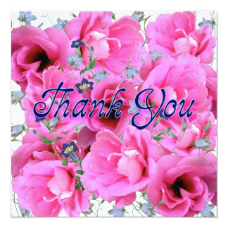 Sweet Pinks Thank You Card - Square