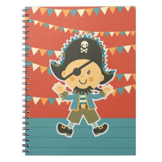 sweet pirate spiral notebooks