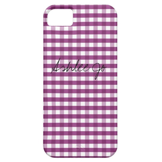 Sweet Plum Customizable iPhone SE/5/5s Case