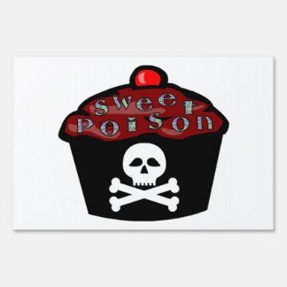 Sweet Poison Cupcake Skull & Crossbones Sign