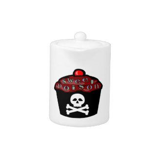 Sweet Poison Cupcake Skull & Crossbones Teapot