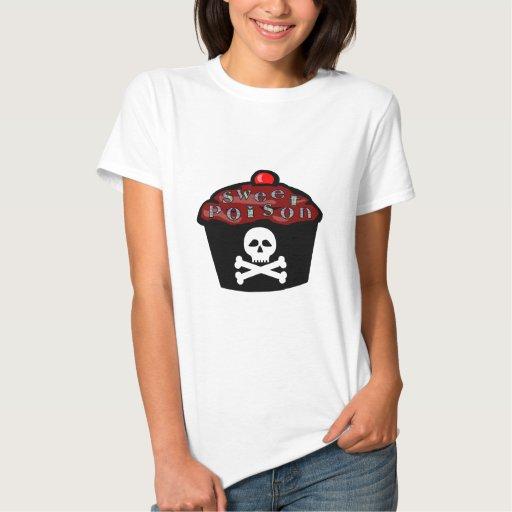 Sweet Poison Cupcake Skull & Crossbones Tees