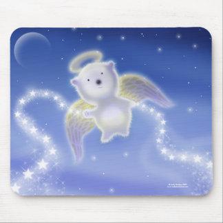 Sweet Polar Bear Angel Cub Mousepad