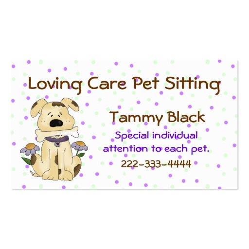 Sweet Polka Dot Pet Sitting Business Card