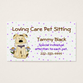 Sweet Polka Dot Pet Sitting Business Card