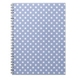 Sweet polka dots on blue background journals