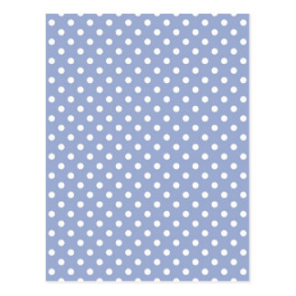 Sweet polka dots on blue background postcard