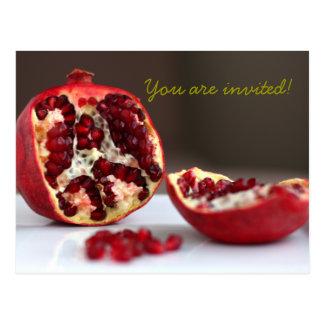 Sweet POM Pomegranate Collection Invitation Postcard