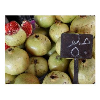 Sweet pomegranates with Arabic writing Postcard