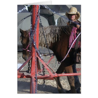 Sweet Pony Cowgirl at County Fair - Blank Inside Card