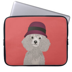 Neoprene Laptop Sleeve 15' with Poodle Phone Cases design