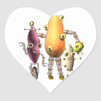 Sweet Potato Bots Heart Sticker