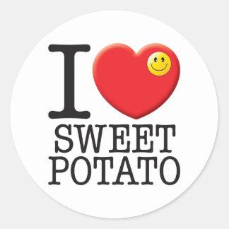 Sweet Potato Classic Round Sticker