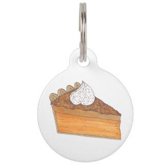Sweet Potato Pie Slice Personalized Dog Pet Tag