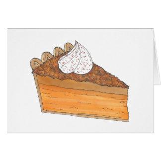 Sweet Potato Pie Slice Thanksgiving Christmas Card