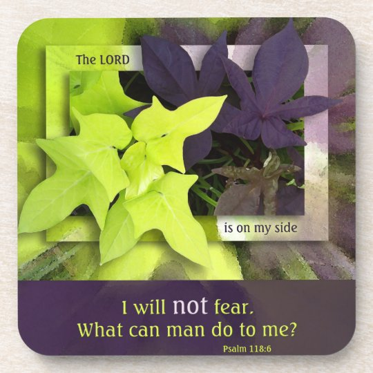 Sweet Potato Vine No Fear Christian Coasters