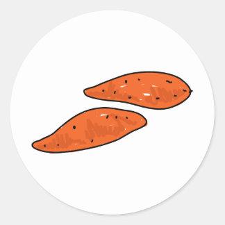 Sweet Potatoes Classic Round Sticker