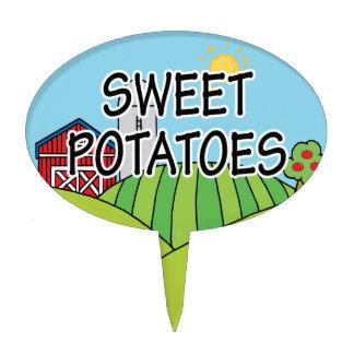 Sweet Potatoes Farm Garden Marker Cake Pick