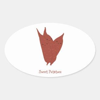 Sweet Potatoes Oval Sticker