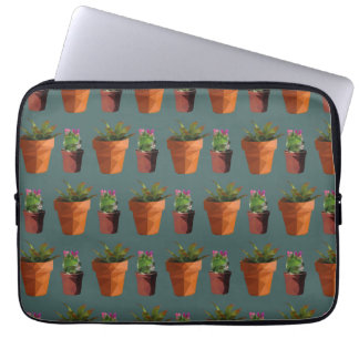 Sweet Potted Geometric Succelents Print Laptop Sleeve