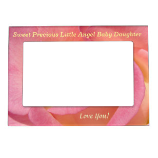Sweet Precious Little Angel Baby Daughter frames Picture Frame Magnet
