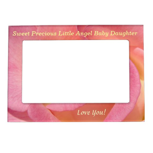 Sweet Precious Little Angel Baby Daughter Frames Picture Frame Magnets
