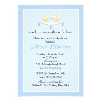 Sweet Prince Crown Boy Baby Shower Invitation