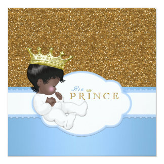 Sweet Prince Ethnic Baby Shower Card
