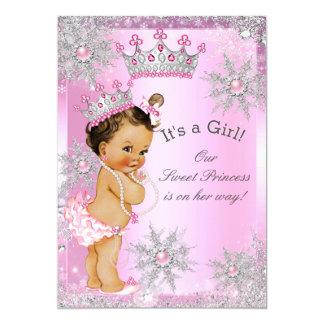 Sweet Princess Baby Shower Wonderland Pink Card
