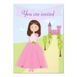 "Sweet Princess Birthday Invitation 4.5"" X 6.25"" Invitation Card"