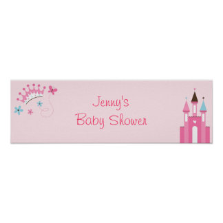 Sweet Princess Crown Tiara Banner Sign Poster