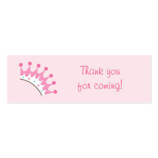 Sweet Princess Crown Tiara Favor Gift Tags Double-Sided Mini Business Cards (Pack Of 20)