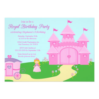 Sweet princess girl s birthday party invitation