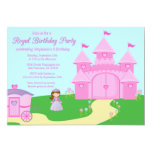 "Sweet princess girl's birthday party invitation 5"" x 7"" invitation card"
