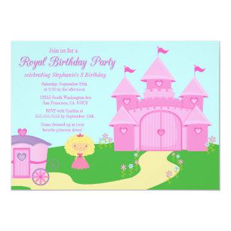 Sweet princess girl's birthday party invitation
