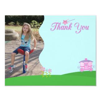 Sweet princess girl's birthday thank you photo card