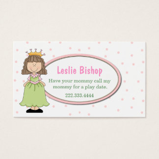 Sweet Princess Play Date Card