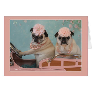 Sweet Pug Mother's Day Greeting Card