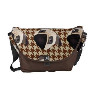 Sweet Pug on Herringbone Commuter Bags